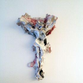 Lucio Fontana, Crocifissione, 1957